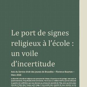 Le port de signes religieux à l'école